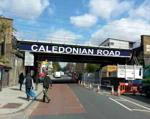 Caledonian Road Bridge sign web
