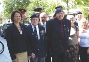 Bill Millett and comrades Armed Forces Day